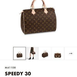 Authentic Louis Vuitton Bag Speedy Monogram 30